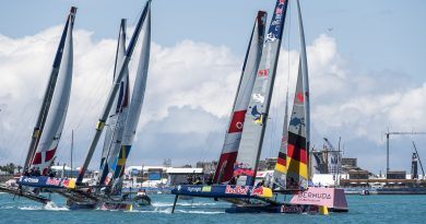 Deutsches Foiling Team in Bermuda