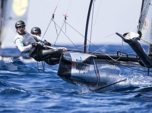 Cup Legend in action during the second day of racing in the 2017 Flying Phantom Series in Madeira Islands.