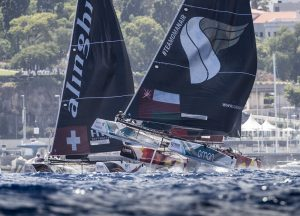Oman Air really hit its stride in perfect foiling conditions off Funchal on day two.