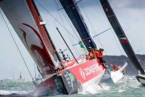 Dongfeng Race Team is in a three-way battle © Paul Wyeth/pwpictures.com