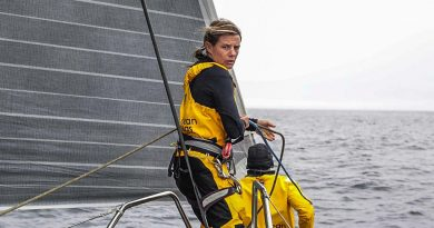 Liz Wardley in Volvo Ocean Race