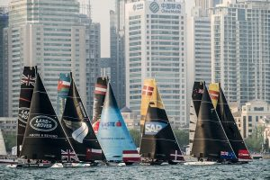 Series fleet races during day three of Act 2 - Qingdao Photo by Xaume Olleros / OC Sports