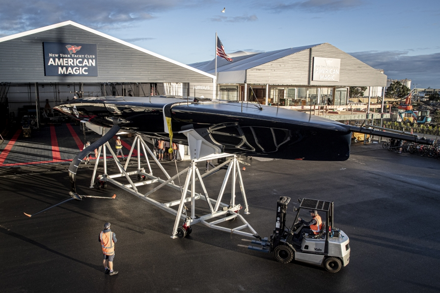 American Magic's AC75 PATRIOT in Auckland.