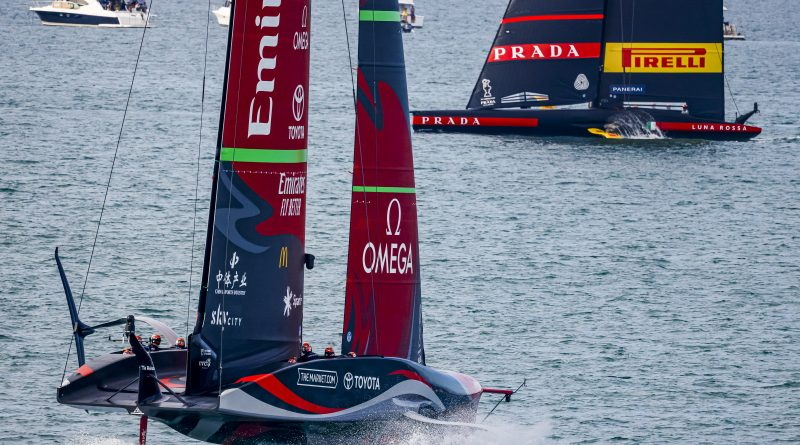 36. America`s Cup: Renntag 5 Emirates Team New Zealand geht 5:3 in Führung !
